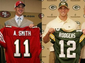 Alex Smith, Aaron Rodgers